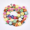 Handmade Polymer Clay Beads StrandsX-CLAY-S092-24-2