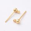 Brass Stud Earring FindingsX-KK-N200-096A-2