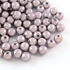 Spray Painted Miracle Acrylic Round BeadsMACR-Q154-18mm-N07-1