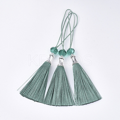 Polyester Tassel Big Pendant DecorationsFIND-T055-10-1