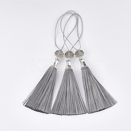 Polyester Tassel Big Pendant Decorations FIND-T055-25-1
