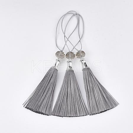 Polyester Tassel Big Pendant DecorationsFIND-T055-25-1