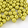 Spray Painted Miracle Acrylic Round Beads MACR-Q154-20mm-N01-1