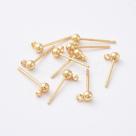 Brass Stud Earring FindingsX-KK-N200-096A-1
