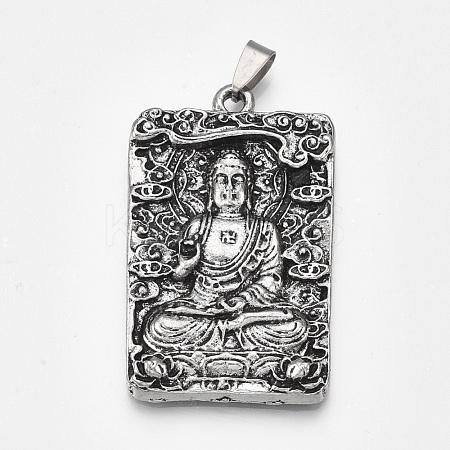 Tibetan Style Alloy Big PendantsPALLOY-S178-12-1