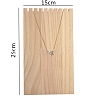 Wooden Necklace Jewelry Necklace HolderBDIS-WH0002-04-3