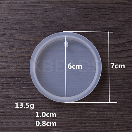 DIY Silicone Moulds, Resin Casting Molds, For UV Resin, Epoxy Resin Jewelry  Pendants Making, Flat Round, White, 70x10mm