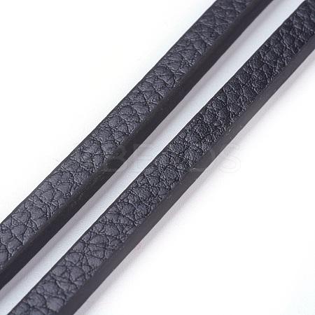 Microfiber PU Leather CordsWL-F010-01A-6mm-1