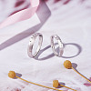 SHEGRACE® 925 Sterling Silver Adjustable Couple RingsJR711A-4