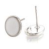 Brass Stud Earring FindingsX-KK-S345-269C-P-2