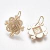 Brass Earring HooksKK-S350-351-2