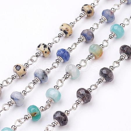 Handmade Gemstone Beaded ChainsAJEW-JB00267-1