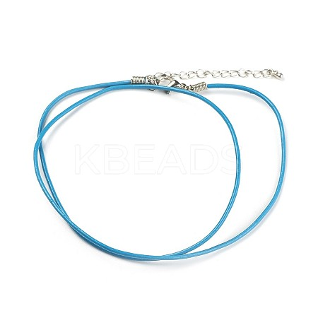 Leather Cord Necklace Making NJEW-XCP002-03-1