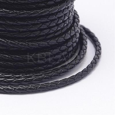 Braided Leather CordNWIR-N005-01C-5mm-1