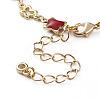 Brass Enamel Butterfly Link  BraceletsBJEW-JB05812-3