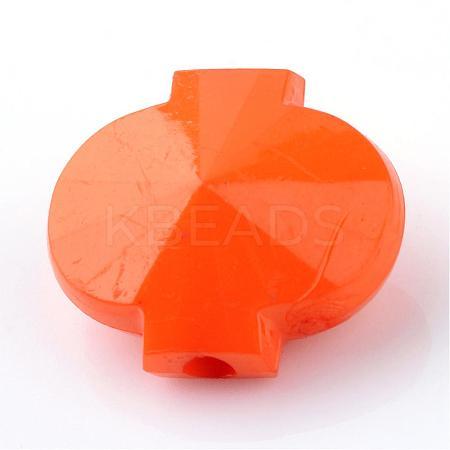 Opaque Acrylic BeadsSACR-S783-C21-1