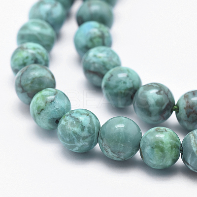 Natural African Turquoise Beads StrandsX-G-K211-6mm-A-1