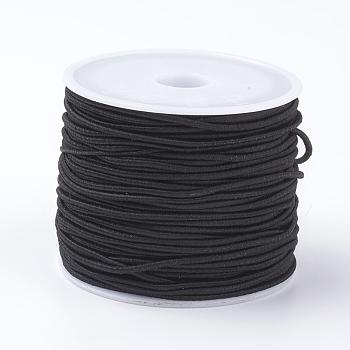 Elastic Cords, Black, 1.5mm; 11~12m/roll
