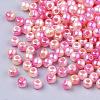 Rainbow ABS Plastic Imitation Pearl BeadsOACR-Q174-5mm-04-2
