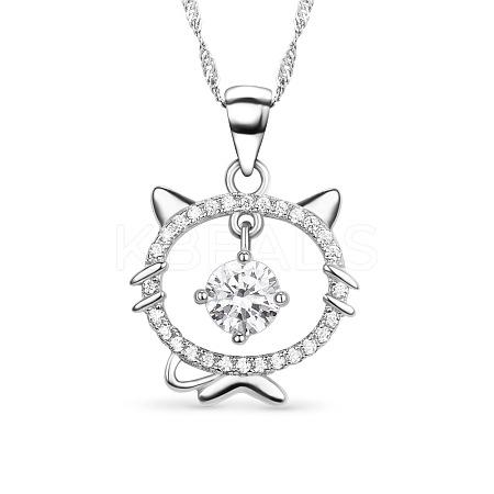 SHEGRACE® Fashion Sterling Silver Pendant NecklaceJN159A-1