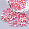 Rainbow ABS Plastic Imitation Pearl Beads OACR-Q174-5mm-04-1
