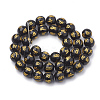 Buddhist Glass Beads Strands X-GLAA-S174-12mm-01-2