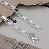 Fashionable Brass Box Chain Bracelets For WomenBJEW-BB12565-2