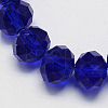 Handmade Imitate Austrian Crystal Faceted Rondelle Glass Beads X-G02YI0C4-1