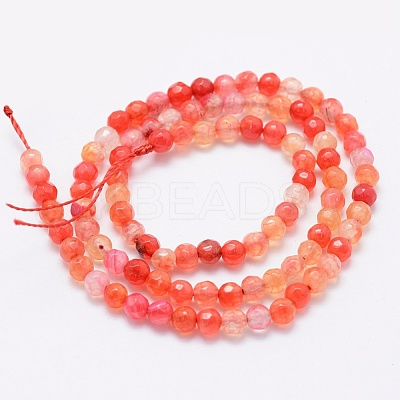 Natural Agate Beads Strands X-G-E469-12L-1