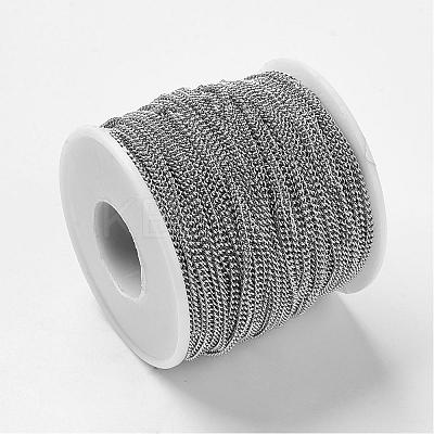 304 Stainless Steel Twist ChainsCHS-R004-0.6mm-1