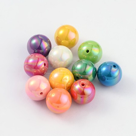 Solid Color Acrylic BeadsPACR-S095-20mm-M-1