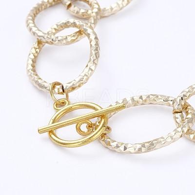 Aluminum Cable Chain NecklacesNJEW-JN02797-03-1