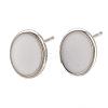Brass Stud Earring FindingsX-KK-S345-269C-P-1
