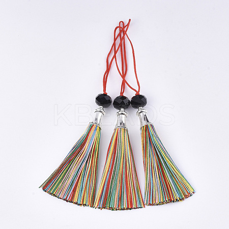 Polyester Tassel Big Pendant Decorations FIND-T055-26-1