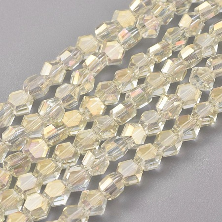 Electroplate Glass Beads StrandsEGLA-L018-C-FR02-1