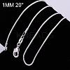 Brass Snake Chain Fine Necklace MakingNJEW-BB10854-20-1