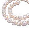 Natural Baroque Pearl Keshi Pearl Beads StrandsX-PEAR-S012-68-4