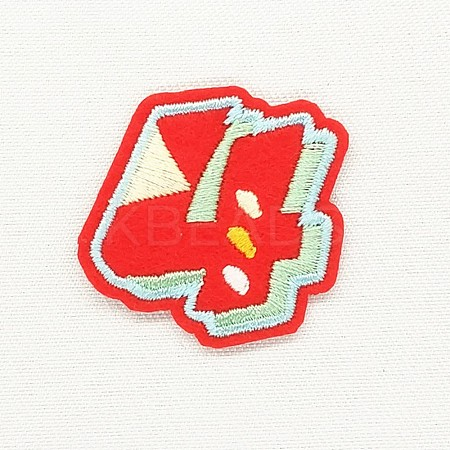 Computerized Embroidery Cloth Iron/Sew On Patches DIY-K012-03-S1003-4-1