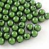 Spray Painted Miracle Acrylic Round Beads X-MACR-Q154-18mm-010-1