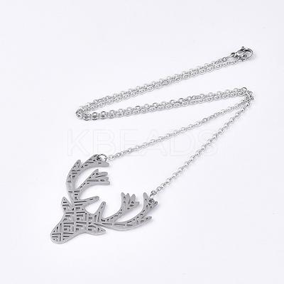 201 Stainless Steel Pendant NecklacesNJEW-T009-JN093-1-40-1