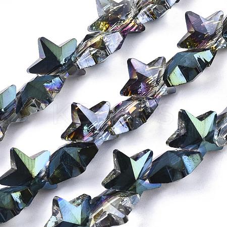 Electroplate Glass Beads StrandsEGLA-N002-05E-1