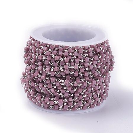 Handmade Glass Beaded ChainsCHC-F008-A02-P-1