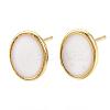 Brass Stud Earring FindingsKK-S345-269C-G-1