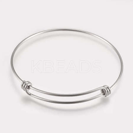 304 Stainless Steel Expandable Bangles STAS-K182-20P-1